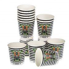 Gobelet en carton personnalisée, Custom printed paper cups, Kubki papierowe z nadrukiem, Pappbecher mit individuell bedruckt, Pappersmuggar med eden tryck